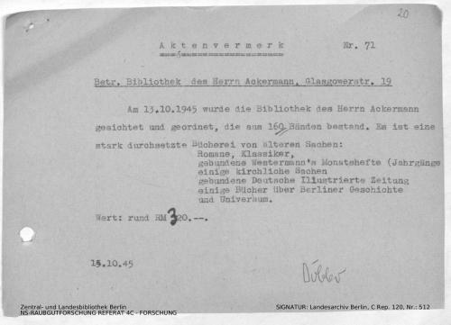 Landesarchiv Berlin, C Rep. 120 Nr. 512, Bl. 20