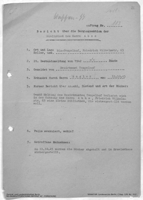 Landesarchiv Berlin, C Rep. 120 Nr. 512, Bl. 22