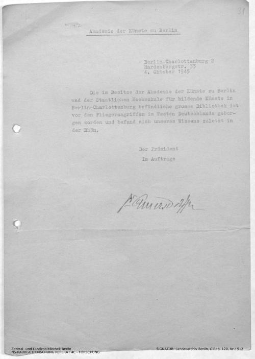 Landesarchiv Berlin, C Rep. 120 Nr. 512, Bl. 30/31