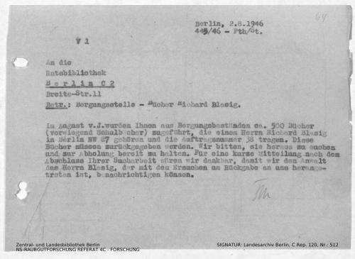 Landesarchiv Berlin, C Rep. 120 Nr. 512, Bl. 64