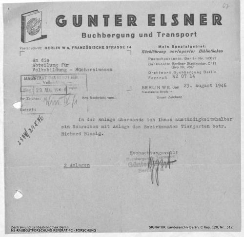 Landesarchiv Berlin, C Rep. 120 Nr. 512, Bl. 67