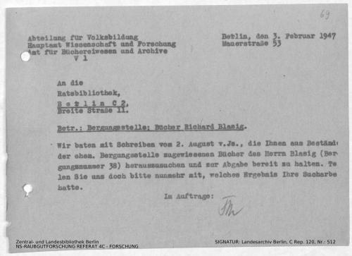 Landesarchiv Berlin, C Rep. 120 Nr. 512, Bl. 69