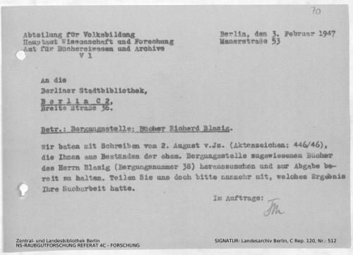 Landesarchiv Berlin, C Rep. 120 Nr. 512, Bl. 70