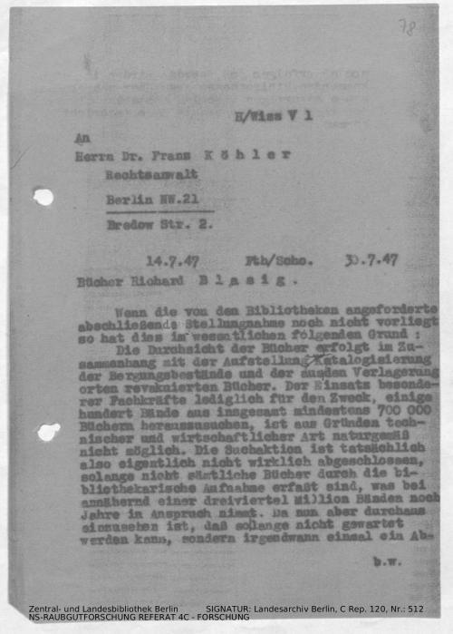 Landesarchiv Berlin, C Rep. 120 Nr. 512, Bl. 78