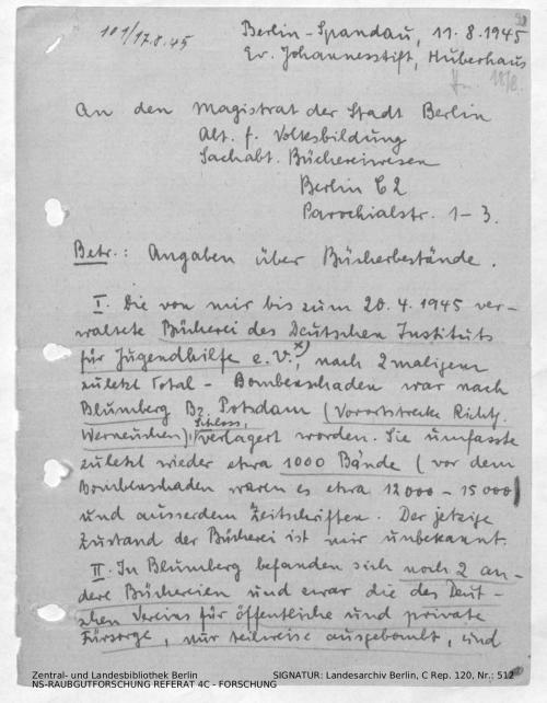 Landesarchiv Berlin, C Rep. 120 Nr. 512, Bl. 98