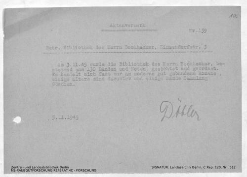 Landesarchiv Berlin, C Rep. 120 Nr. 512, Bl. 106