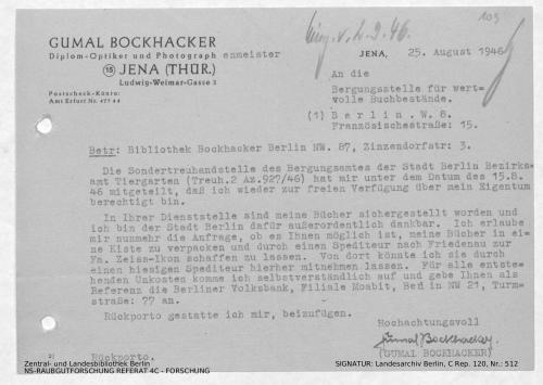 Landesarchiv Berlin, C Rep. 120 Nr. 512, Bl. 109