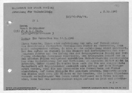 Landesarchiv Berlin, C Rep. 120 Nr. 512, Bl. 113