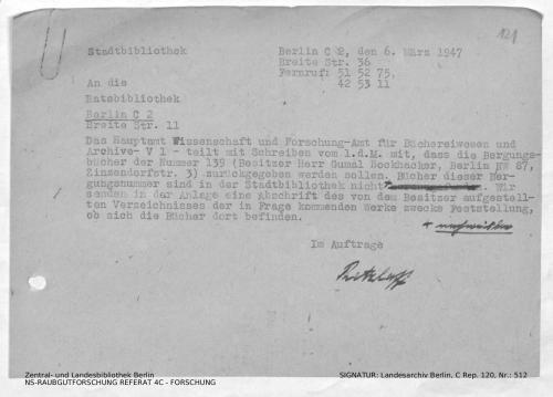 Landesarchiv Berlin, C Rep. 120 Nr. 512, Bl. 121