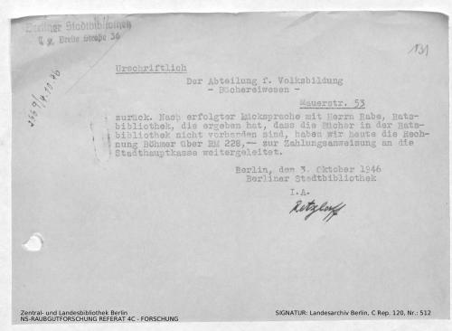 Landesarchiv Berlin, C Rep. 120 Nr. 512, Bl. 131