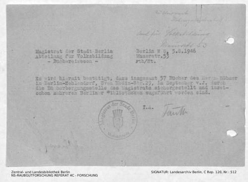Landesarchiv Berlin, C Rep. 120 Nr. 512, Bl. 138