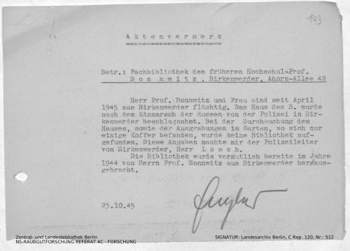 Landesarchiv Berlin, C Rep. 120 Nr. 512, Bl. 143