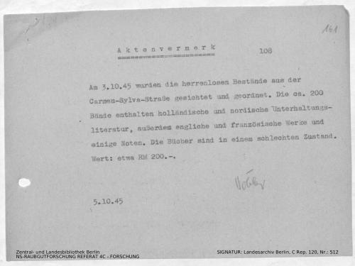 Landesarchiv Berlin, C Rep. 120 Nr. 512, Bl. 161