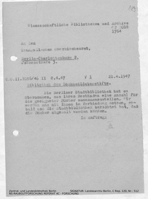 Landesarchiv Berlin, C Rep. 120 Nr. 512, Bl. 189