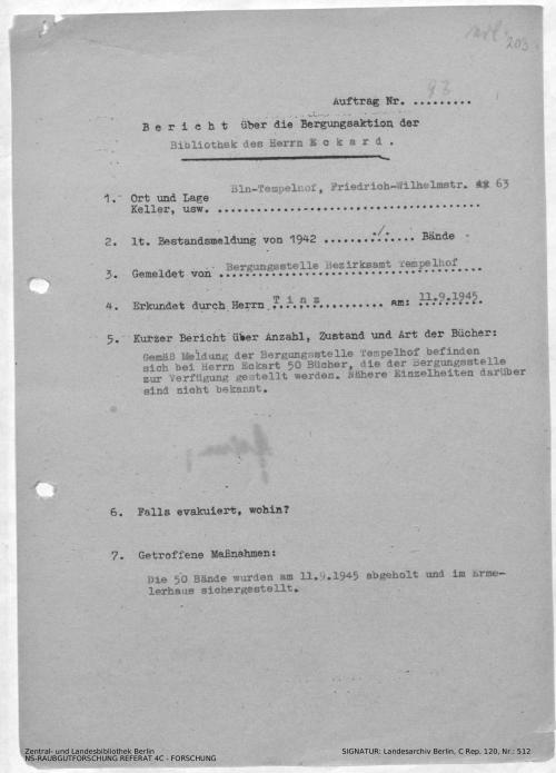 Landesarchiv Berlin, C Rep. 120 Nr. 512, Bl. 203