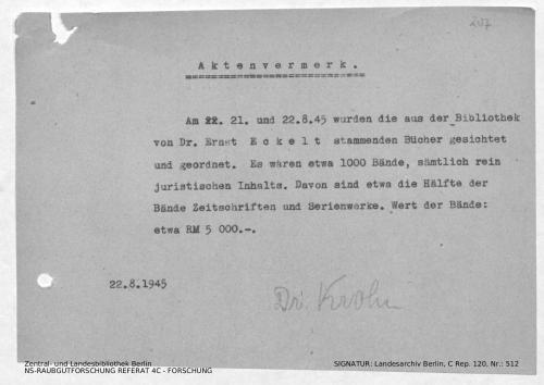 Landesarchiv Berlin, C Rep. 120 Nr. 512, Bl. 207