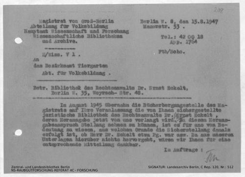 Landesarchiv Berlin, C Rep. 120 Nr. 512, Bl. 208