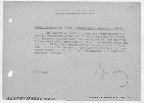 Landesarchiv Berlin, C Rep. 120 Nr. 512, Bl. 220