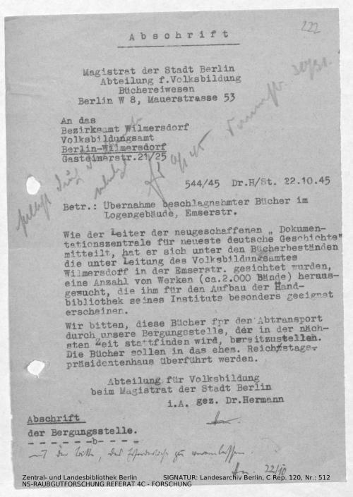 Landesarchiv Berlin, C Rep. 120 Nr. 512, Bl. 222
