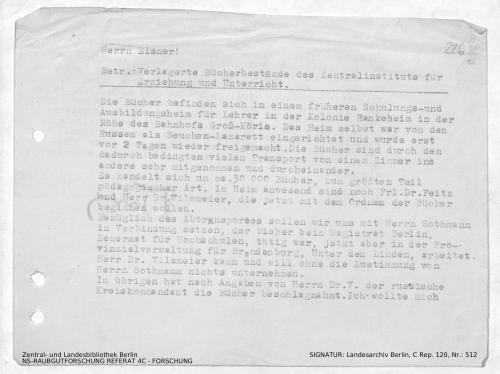 Landesarchiv Berlin, C Rep. 120 Nr. 512, Bl. 226