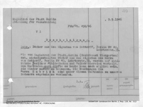 Landesarchiv Berlin, C Rep. 120 Nr. 512, Bl. 227