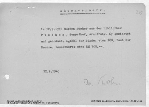Landesarchiv Berlin, C Rep. 120 Nr. 512, Bl. 235