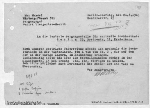 Landesarchiv Berlin, C Rep. 120 Nr. 512, Bl. 248