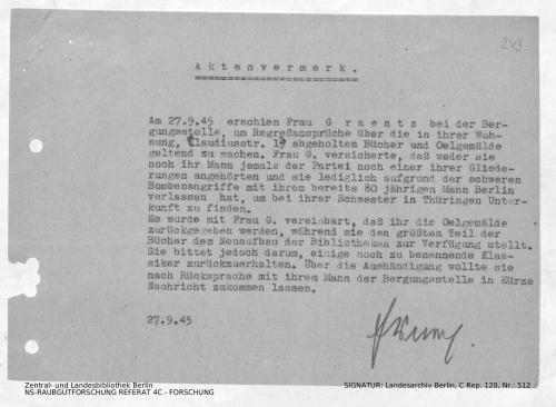 Landesarchiv Berlin, C Rep. 120 Nr. 512, Bl. 249