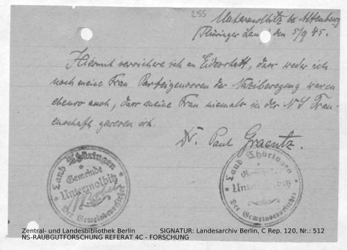 Landesarchiv Berlin, C Rep. 120 Nr. 512, Bl. 255