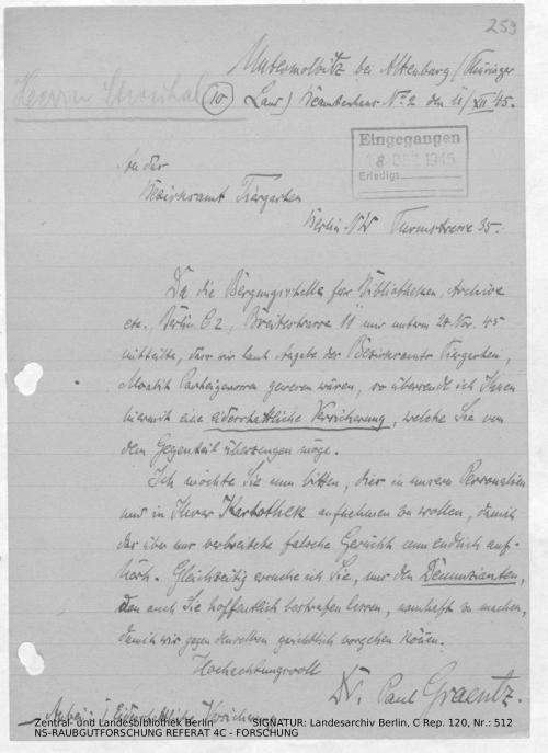 Landesarchiv Berlin, C Rep. 120 Nr. 512, Bl. 259