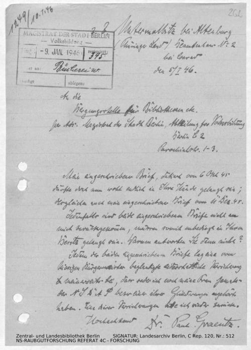 Landesarchiv Berlin, C Rep. 120 Nr. 512, Bl. 262