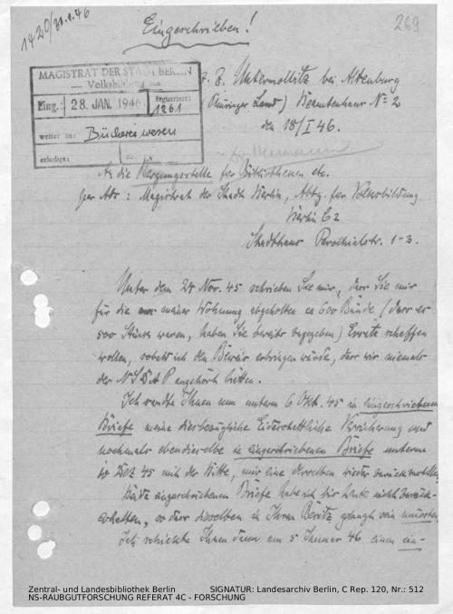 Landesarchiv Berlin, C Rep. 120 Nr. 512, Bl. 263