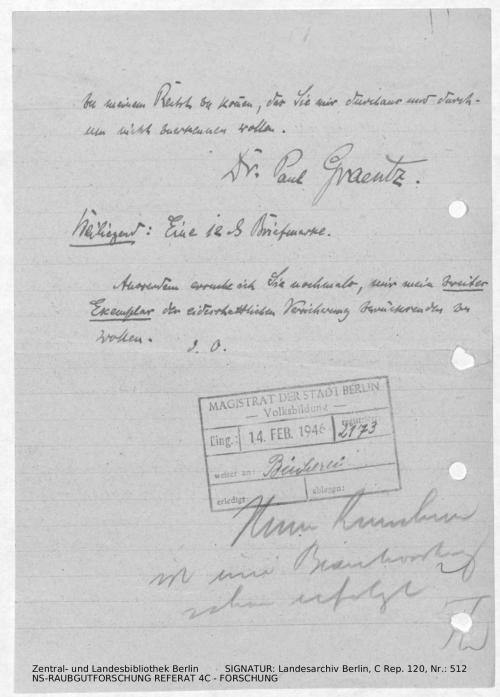 Landesarchiv Berlin, C Rep. 120 Nr. 512, Bl. 265