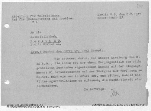 Landesarchiv Berlin, C Rep. 120 Nr. 512, Bl. 274