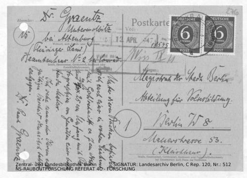 Landesarchiv Berlin, C Rep. 120 Nr. 512, Bl. 276