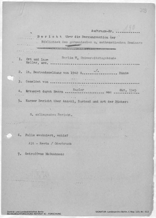 Landesarchiv Berlin, C Rep. 120 Nr. 512, Bl. 303
