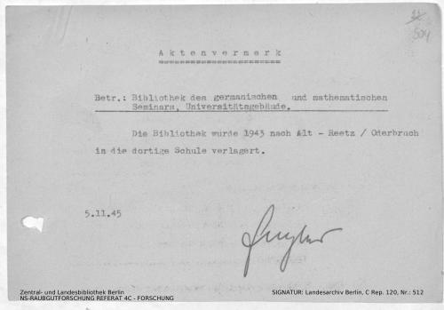 Landesarchiv Berlin, C Rep. 120 Nr. 512, Bl. 304