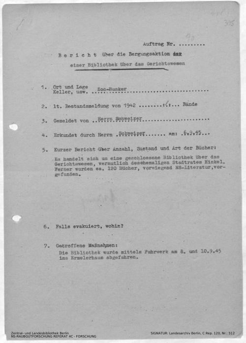 Landesarchiv Berlin, C Rep. 120 Nr. 512, Bl. 305