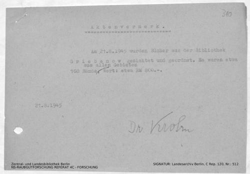 Landesarchiv Berlin, C Rep. 120 Nr. 512, Bl. 310