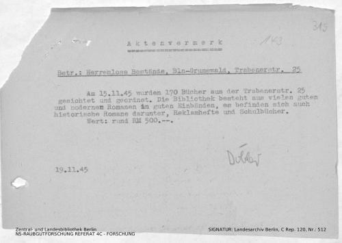 Landesarchiv Berlin, C Rep. 120 Nr. 512, Bl. 315