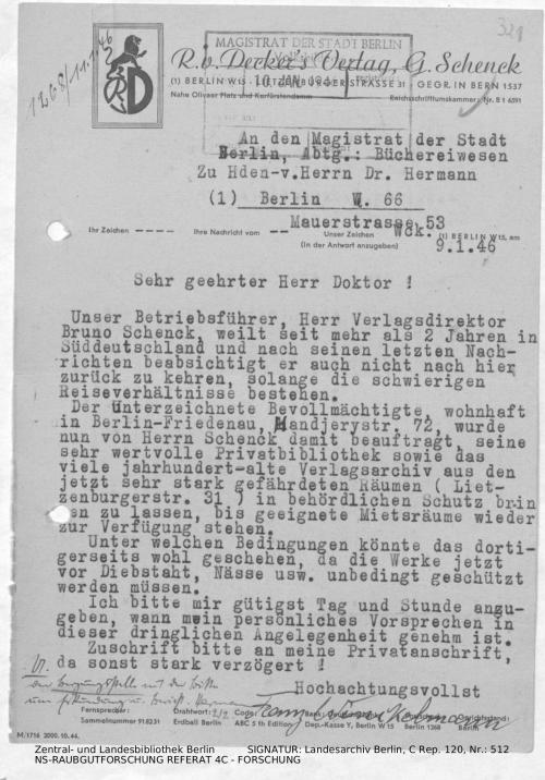 Landesarchiv Berlin, C Rep. 120 Nr. 512, Bl. 321