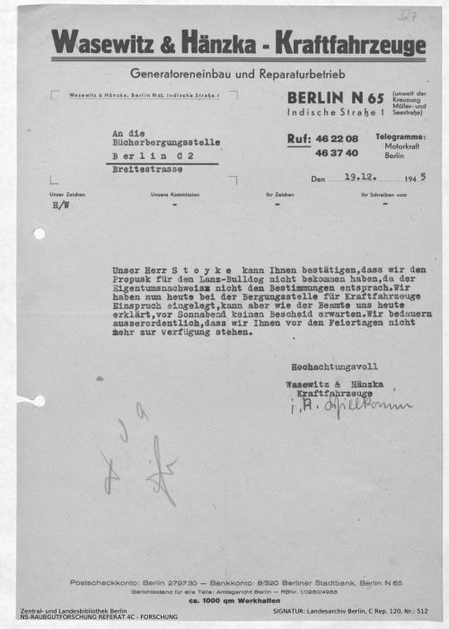 Landesarchiv Berlin, C Rep. 120 Nr. 512, Bl. 327