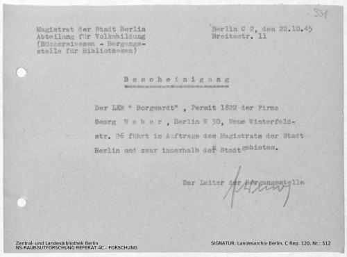 Landesarchiv Berlin, C Rep. 120 Nr. 512, Bl. 331