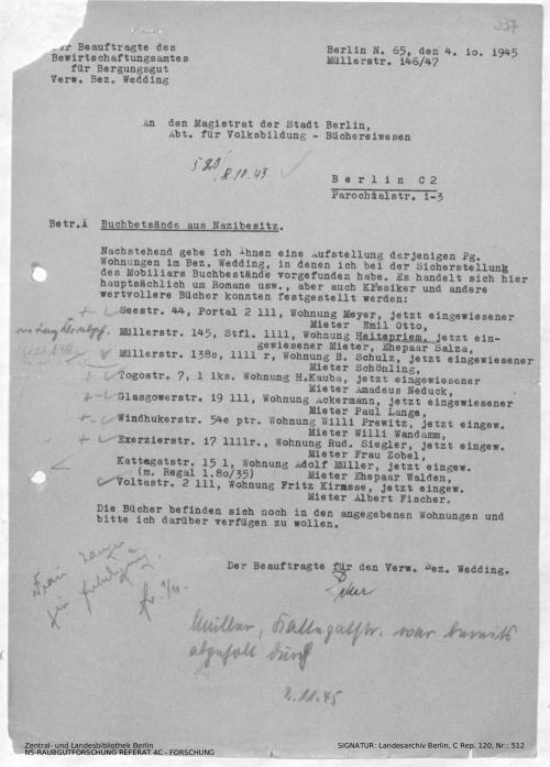 Landesarchiv Berlin, C Rep. 120 Nr. 512, Bl. 337