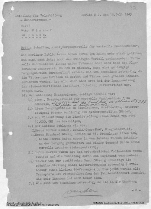Landesarchiv Berlin, C Rep. 120 Nr. 512, Bl. 356/357