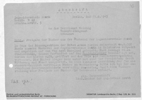 Landesarchiv Berlin, C Rep. 120 Nr. 513, Bl. 43