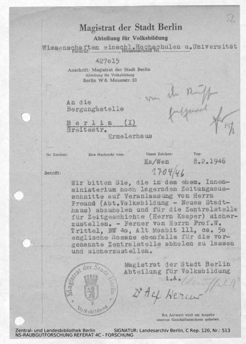 Landesarchiv Berlin, C Rep. 120 Nr. 513, Bl. 52