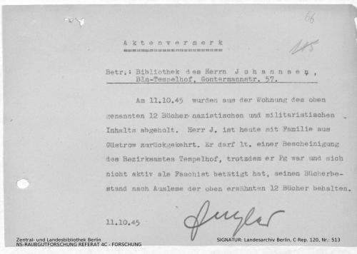 Landesarchiv Berlin, C Rep. 120 Nr. 513, Bl. 66
