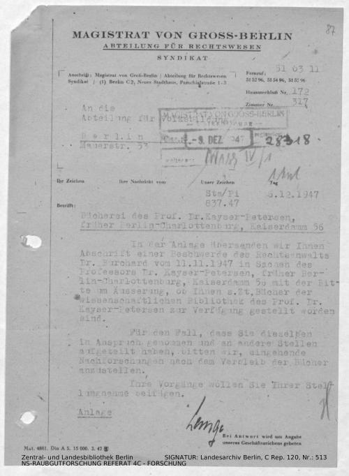 Landesarchiv Berlin, C Rep. 120 Nr. 513, Bl. 87