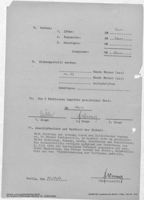 Landesarchiv Berlin, C Rep. 120 Nr. 513, Bl. 129